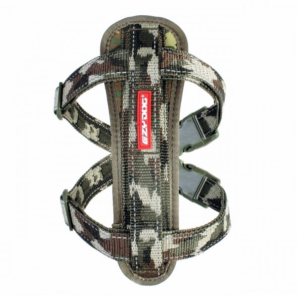 EZY-DOG HIGH QUALITY CHESTPLATE HARNESS WITH  FREE SEATBELT ATTACHMENT (CAMO)