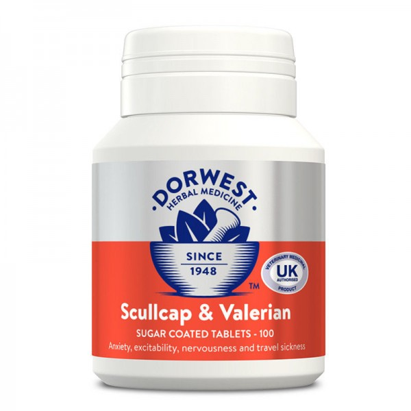 DORWEST HERBS SCULLCAP AND VALERIAN CALMS 4 FIREWORKS, ,PHOBIAS, TRAVEL SICKNESS