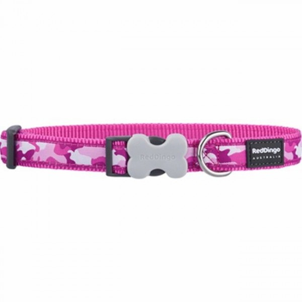 RED DINGO FULLY ADJUSTABLE DOG / PUPPY COLLARS HOT PINK CAMOUFLAGE