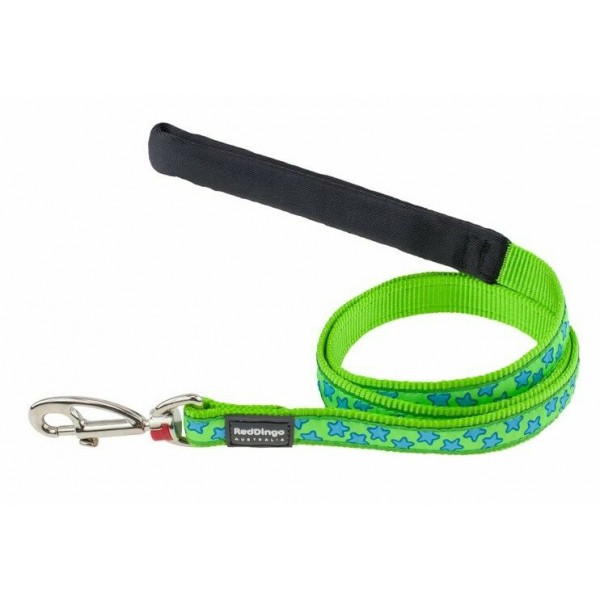 RED DINGO LIME GREEN STAR DESIGNER LEAD FOR DOG  / PUPPY