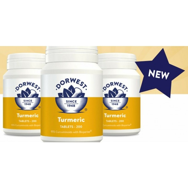 DORWEST HERBS TURMERIC TABLETS FOR NATURAL ANTI INFLAMMATORY IN CATS & DOGS