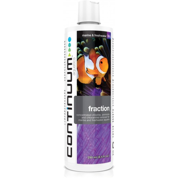 CONTINUUM FRACTION WATER CONDITIONER  removes Ammonia. Chlorine & Chloramines