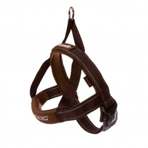 EZY-DOG QUICK FIT HARNESS HIGH QUALITY & COMFORT (Chocolate)