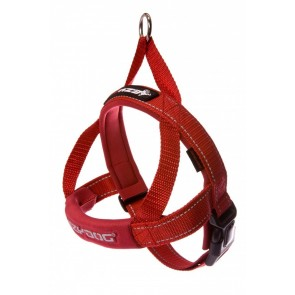 EZY-DOG QUICK FIT HARNESS HIGH QUALITY & COMFORT (Red)