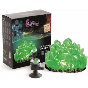 HYDOR KIT EARTH GEM WITH LED GREEN EMERALD FOR AQUARIUM. DECORATIVE STONE