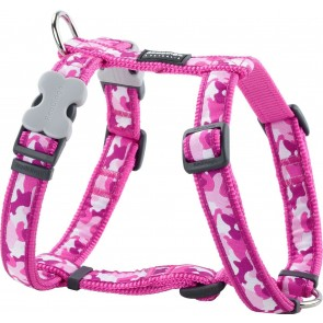 RED DINGO FULLY ADJUSTABLE DOG/PUPPY HARNESS HOT PINK CAMOUFLAGE  Sizes XS - LG
