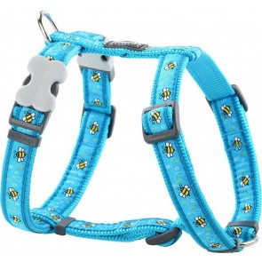 RED DINGO FULLY ADJUSTABLE DOG / PUPPY HARNESS TURQUOISE BUMBLEBEE Sizes XS - LG