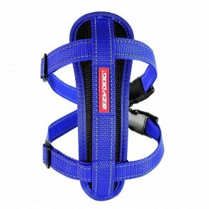 EZY-DOG HIGH  QUALITY CHESTPLATE HARNESS & FREE SEATBELT ATTACHMENT (BLUE)