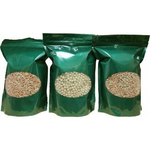 POND FISH FOOD KOI GOLDFISH STICKS OR PELLETS OR 50/50 MIX Resealable Pouches