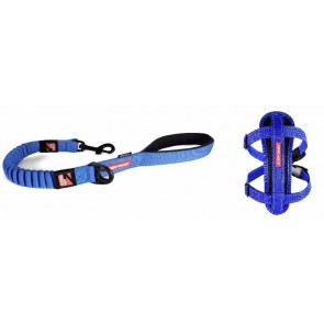 EZY-DOG 25 INCH ZERO SHOCK LEAD AND MATCHING CHESTPLATE HARNESS (Blue)
