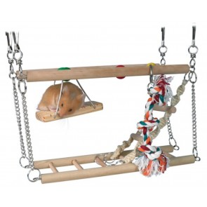 HAMSTER / GERBIL / MOUSE TWIN BRIDGE & ACTIVITY CENTRE (Great Value)