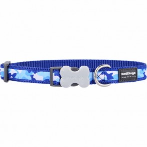 RED DINGO FULLY ADJUSTABLE DOG / PUPPY COLLARS BLUE CAMOUFLAGE