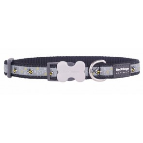 RED DINGO FULLY ADJUSTABLE DOG / PUPPY COLLARS BLACK BUMBLE BEE